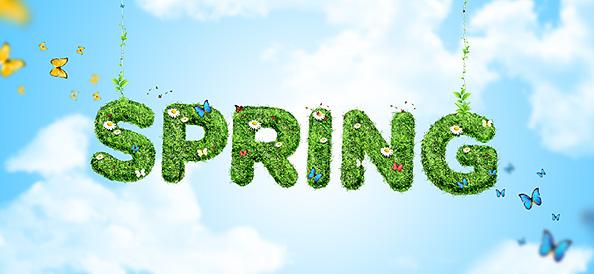 Spring Background PSD