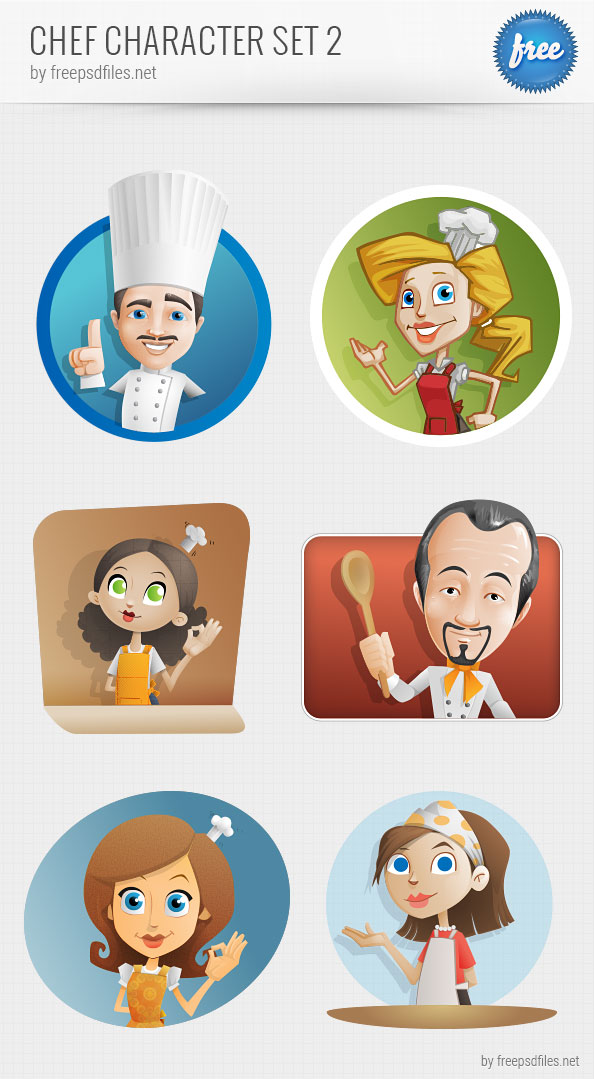 Chef Vector Character Set Preview