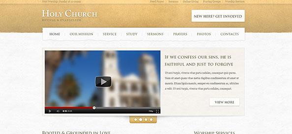 Church Website PSD Template Free PSD Files - Church website templates