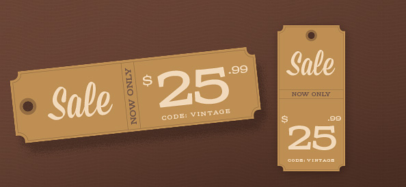 Price Tag PSD Templates