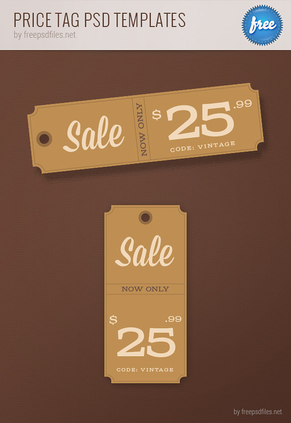 Price Tag PSD Templates Preview