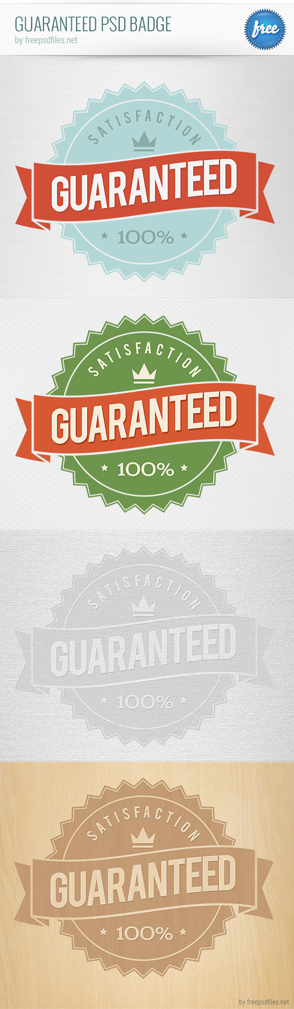 Guaranteed PSD Badge Preview