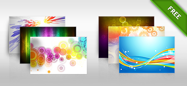 10 Colorful Backgrounds Set