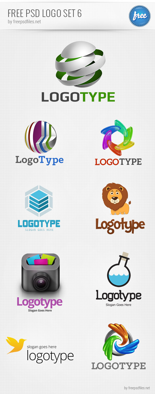 Free PSD Logo Design Templates Pack 6