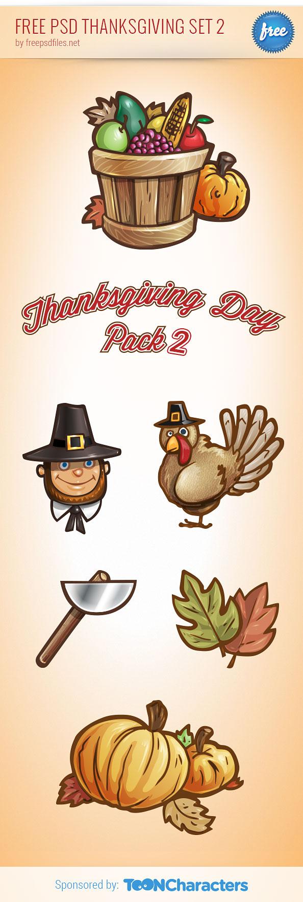 Free PSD Thanksgiving Set