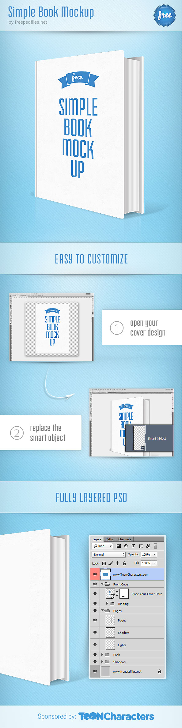 Simple Book PSD Mockup Preview