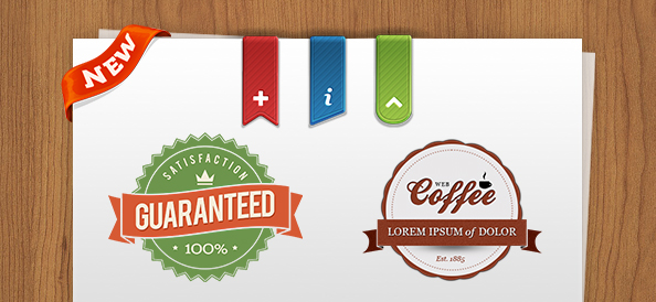 32 Best Free PSD Badges and Ribbons