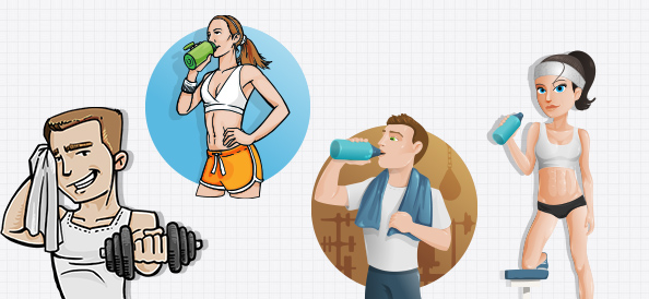 Fitness Vector Character Set
