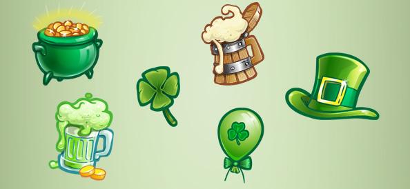 Saint Patrick Graphics Free PSD Set 1