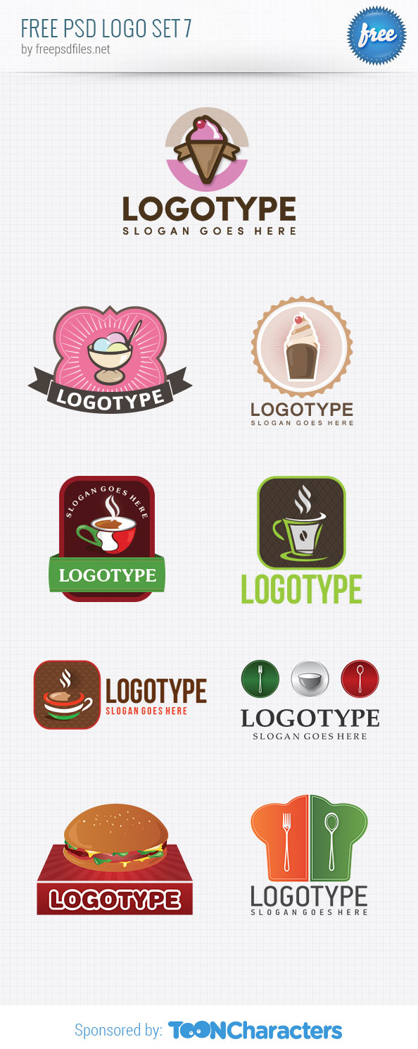 Free PSD Logo Design Templates Pack 7