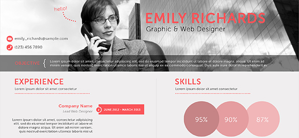 Free PSD Professional Business Resume