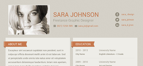 Free PSD Creative Resume Design Free PSD Files