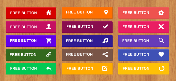 Free Flat Buttons Pack