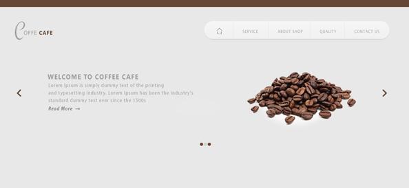 Free PSD Coffeeshop Website Template