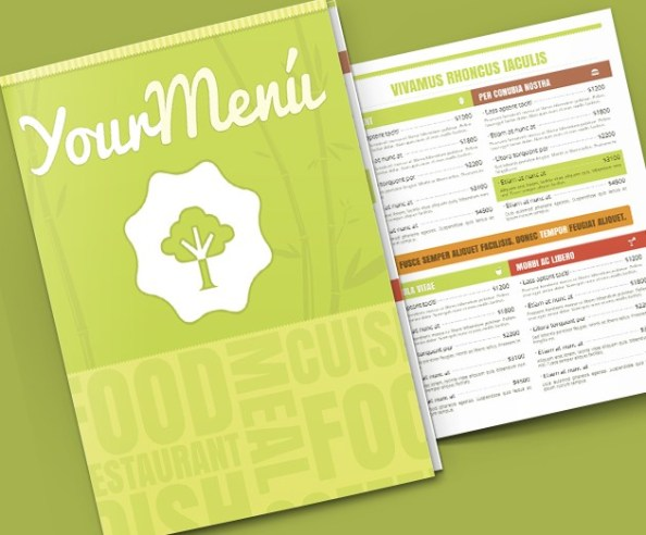 vegetarian menu design