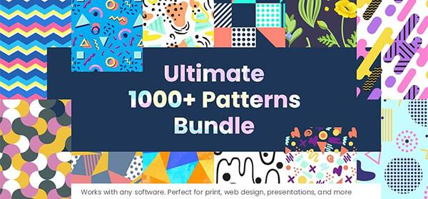 1000 Seamless Pattern Designs Mega Bundle