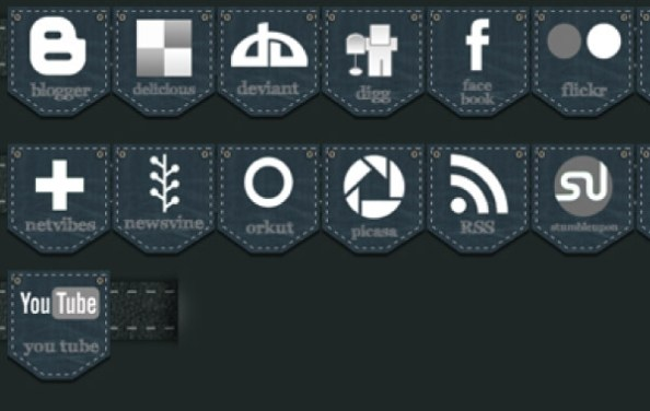 jeans-social-media-icon-pack