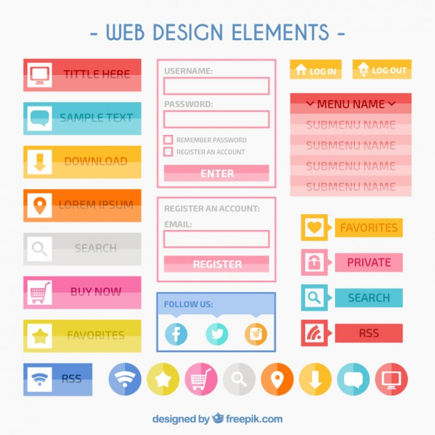 colorful-web-design-elements_