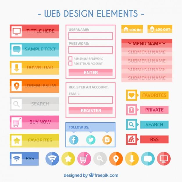 colorful-web-design-elements_