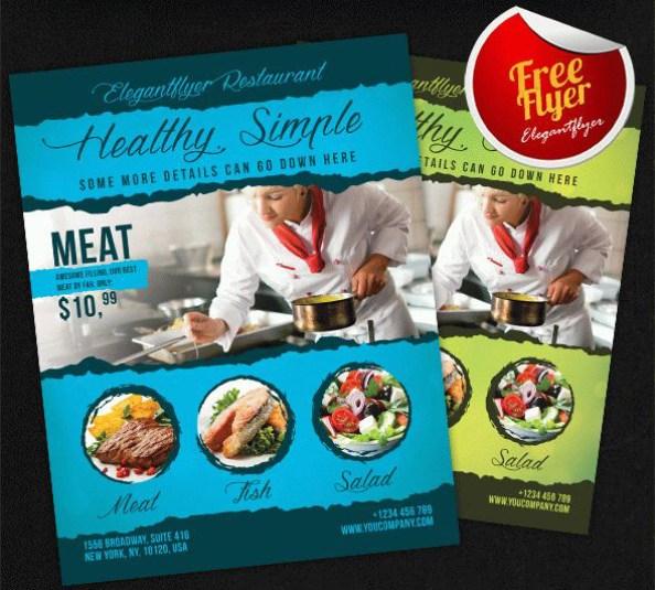 free flyer template restaurant