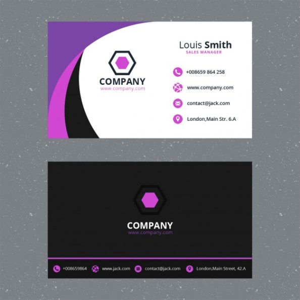 purple-business-card-template