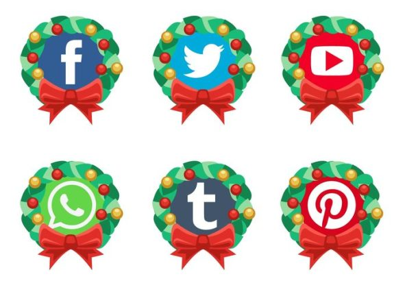 vector-christmas-social-media-icons