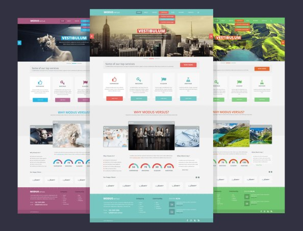 ModusVersus_web design template