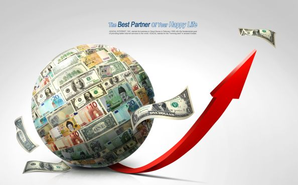 currency globe free psd bacground
