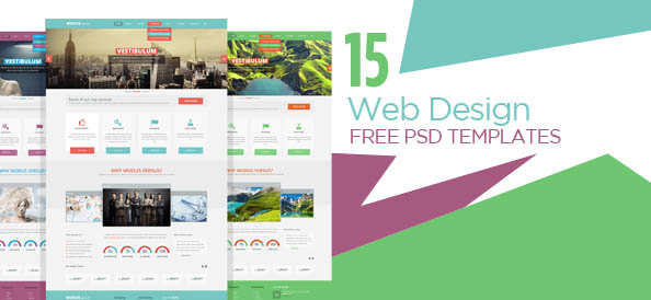15 stylish web design free psd templates