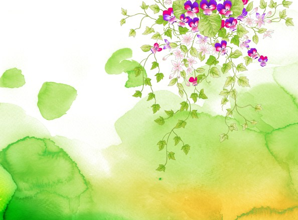 fully layered watercolor nature background PSD 3189x2362