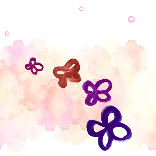 watercolor free psd background flowers