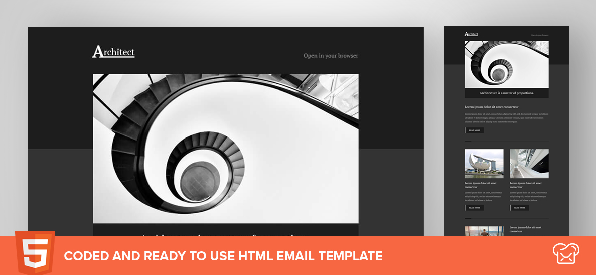 Architect – Free HTML Email Template