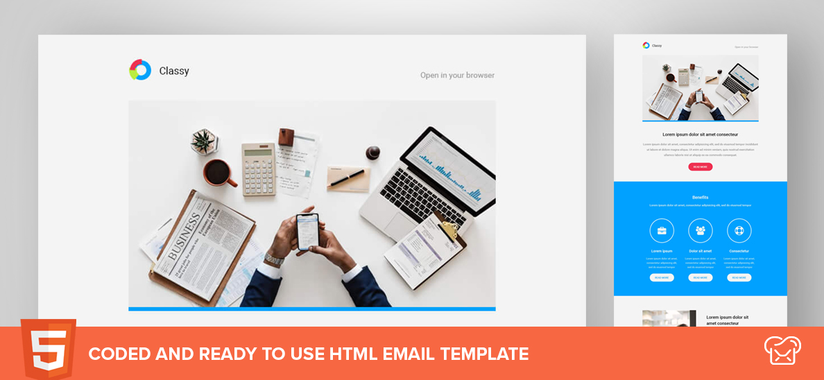 Classy – Free HTML Email Template