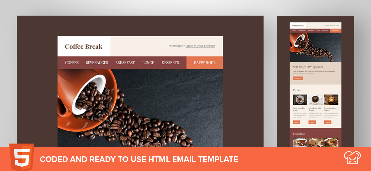Coffee Break – Free HTML Email Template