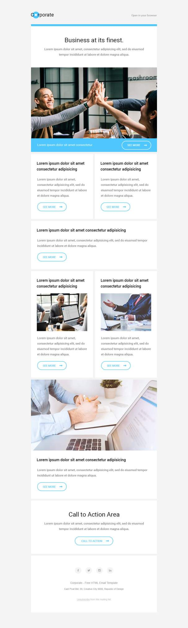 Corporate Free Html Email Template Free Mail Templates