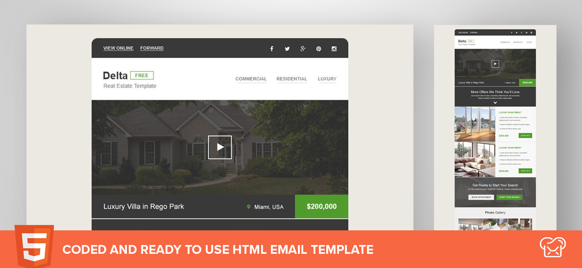 Mailbakery Delta – Free HTML Email Template