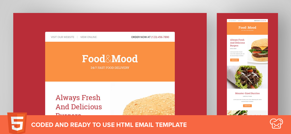 Food&Mood – Free HTML Email Template