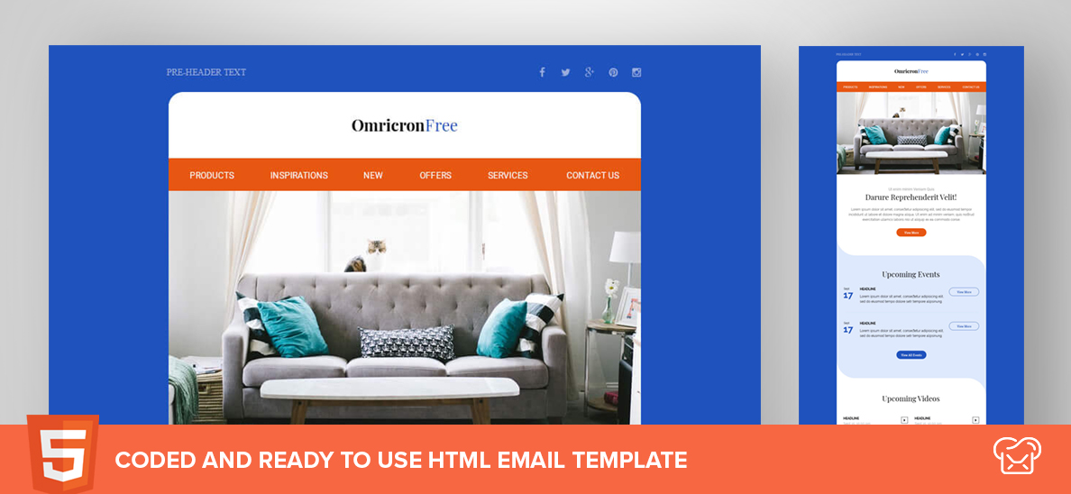Mailbakery Omicron – Free HTML Email Template