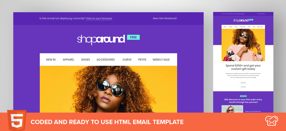 Shop Around – Free HTML Email Template
