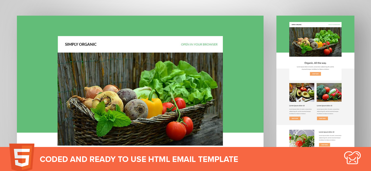 Simply Organic – Free HTML Email Template