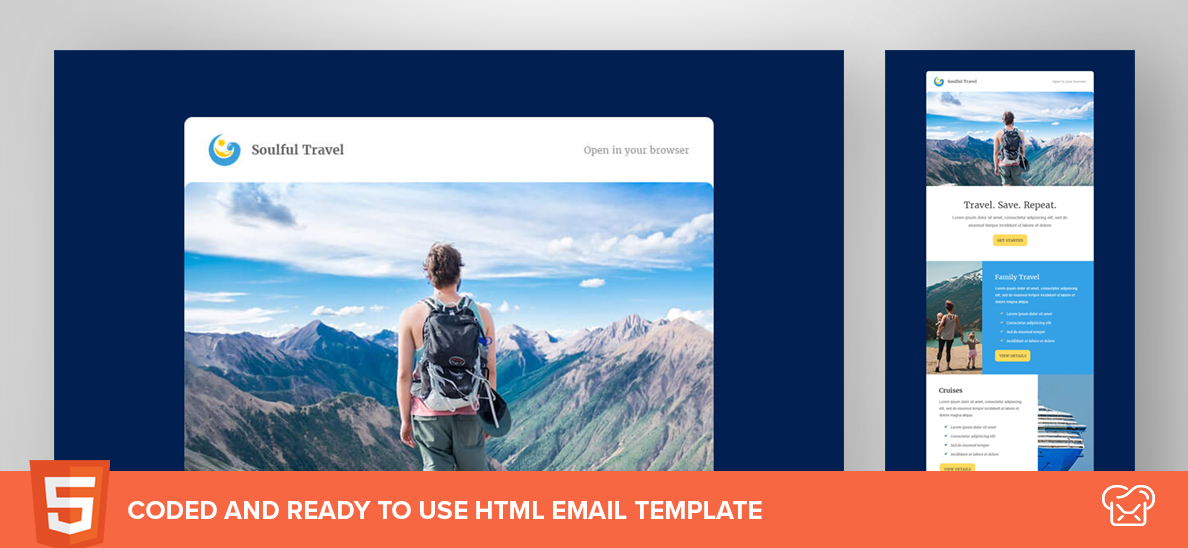Soulful Travel – Free HTML Email Template