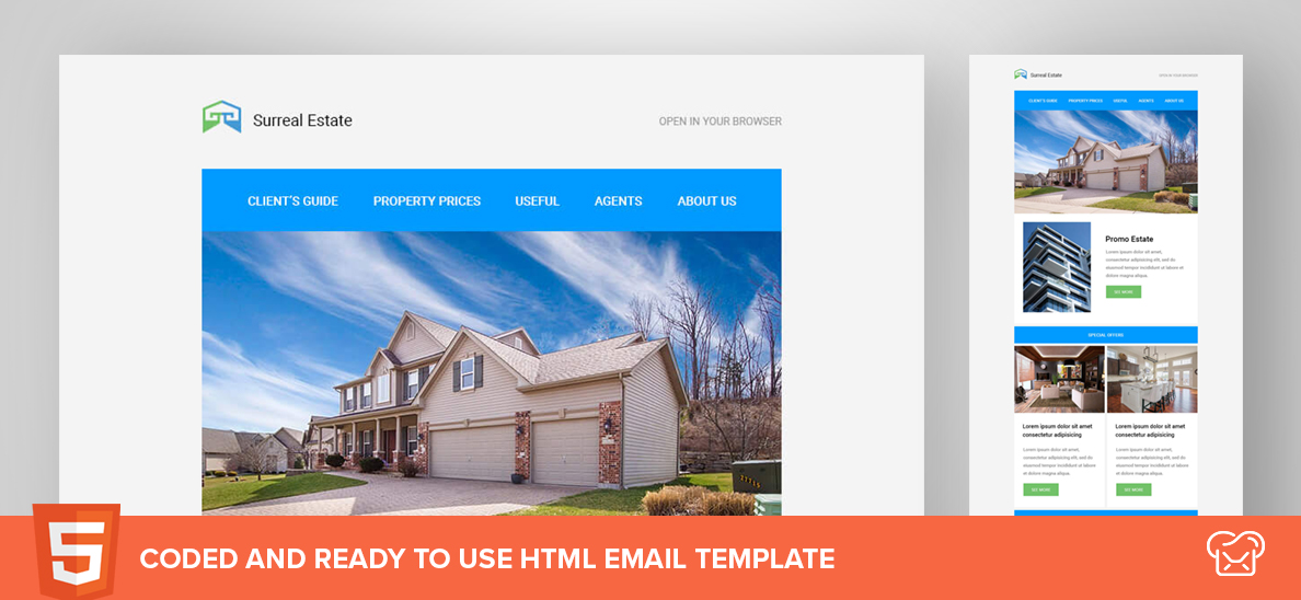 Surreal Estate Free HTML Email Template Free PSD Files