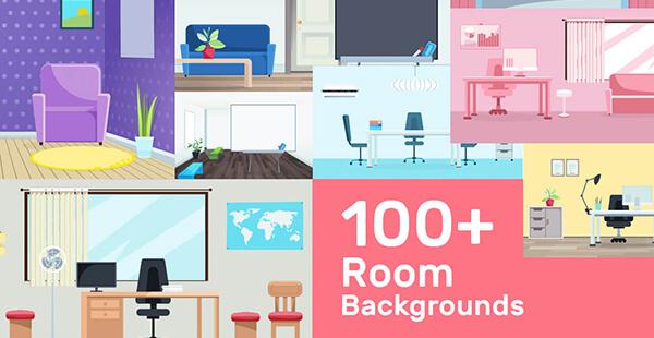 vector room backgrounds mega bundle