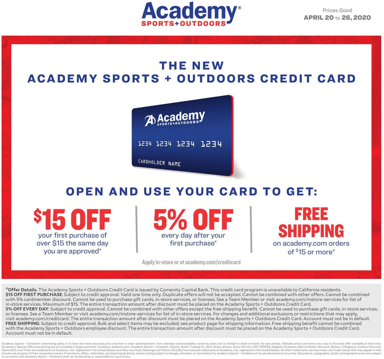 View the current offers here. Academy Sports Current Weekly Ad 04 20 04 26 2020 6 Frequent Ads Com