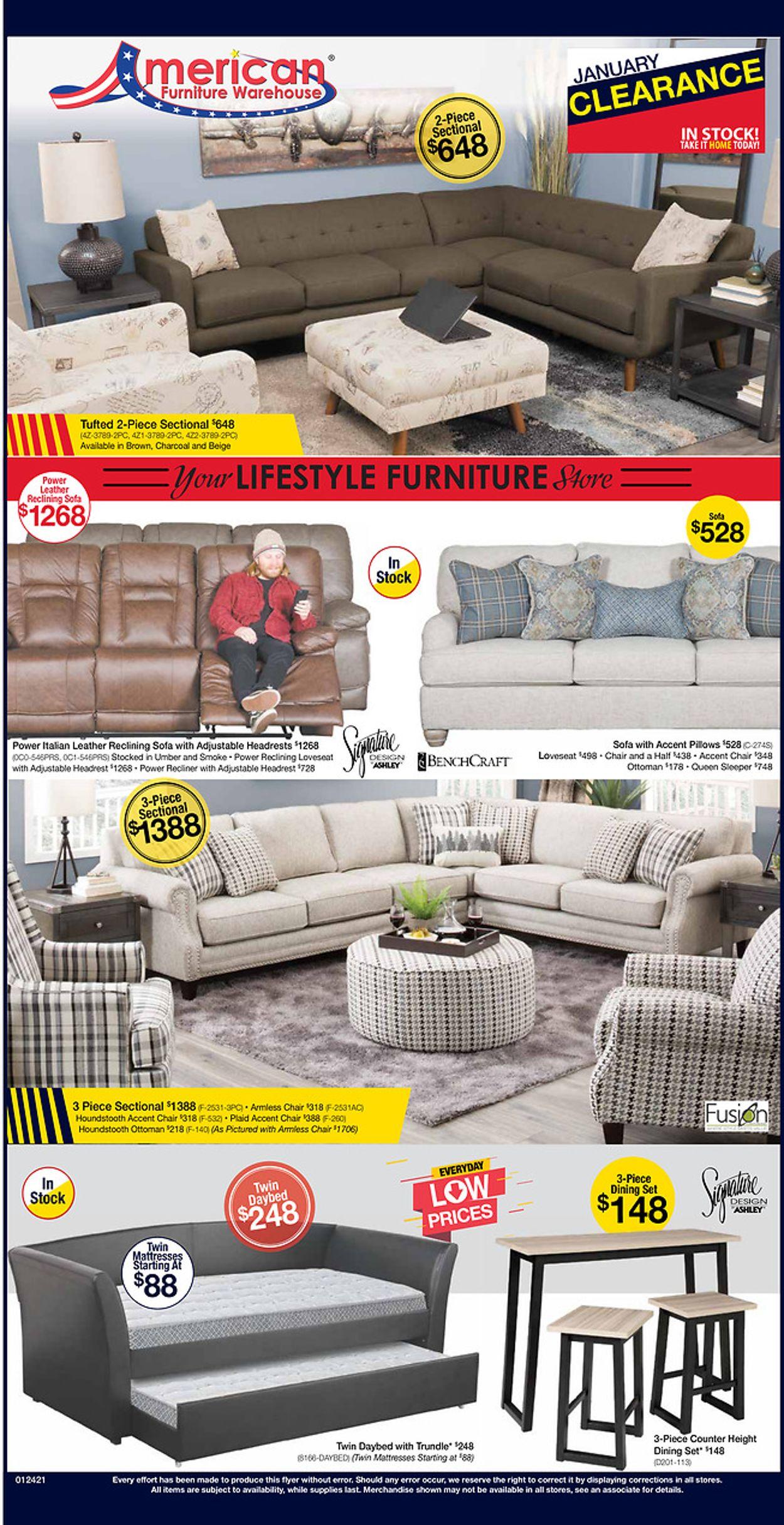 american furniture warehouse current