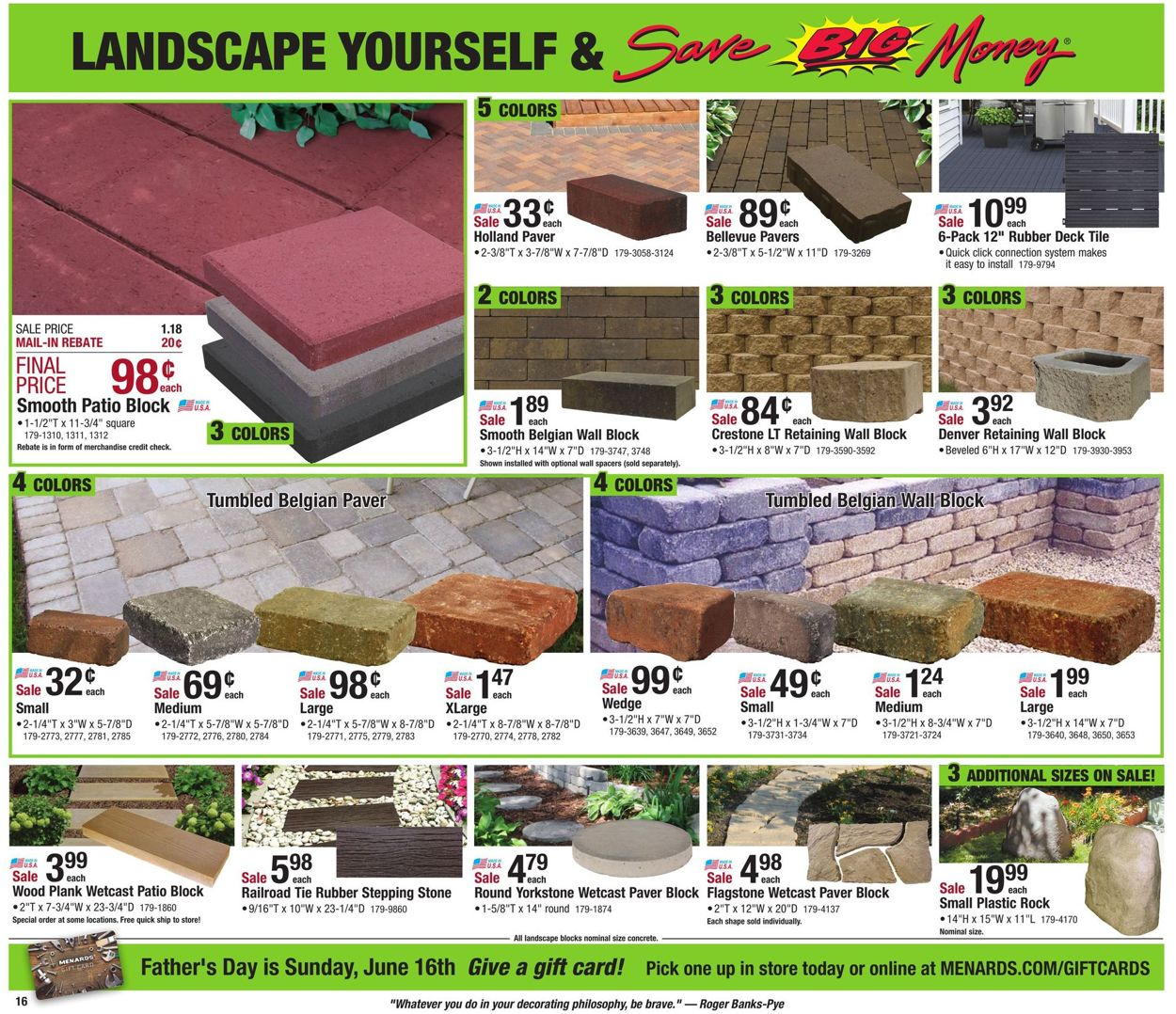 menards current weekly ad 05 26 06 02