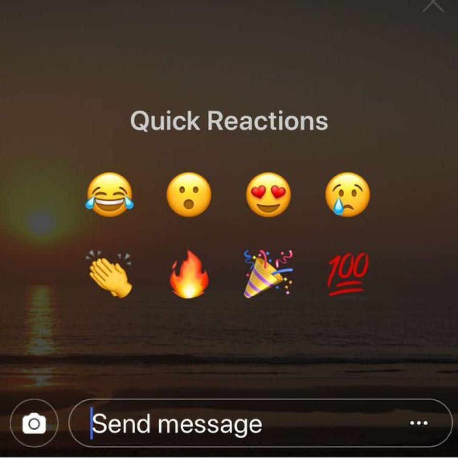 Instagram's Quick Reaction Emojis