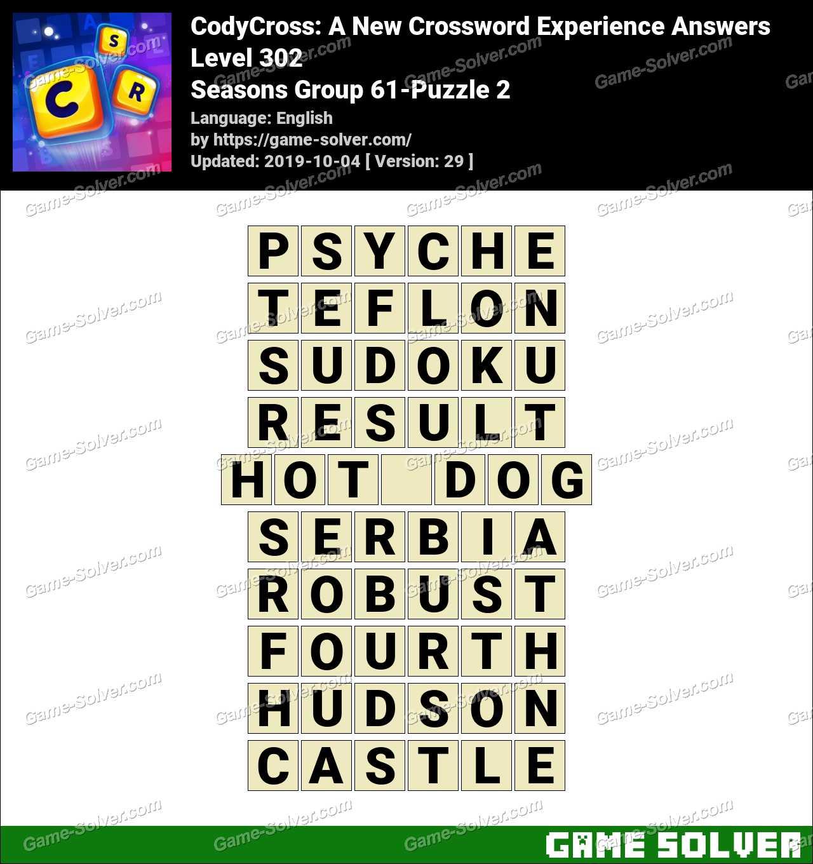 CodyCross Seasons Group 61-Puzzle 2 Answers