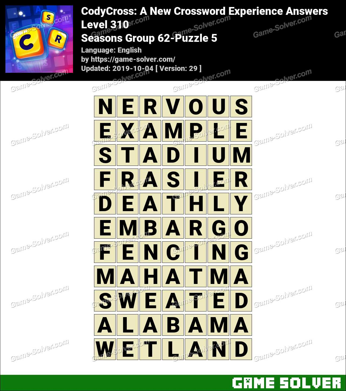CodyCross Seasons Group 62-Puzzle 5 Answers