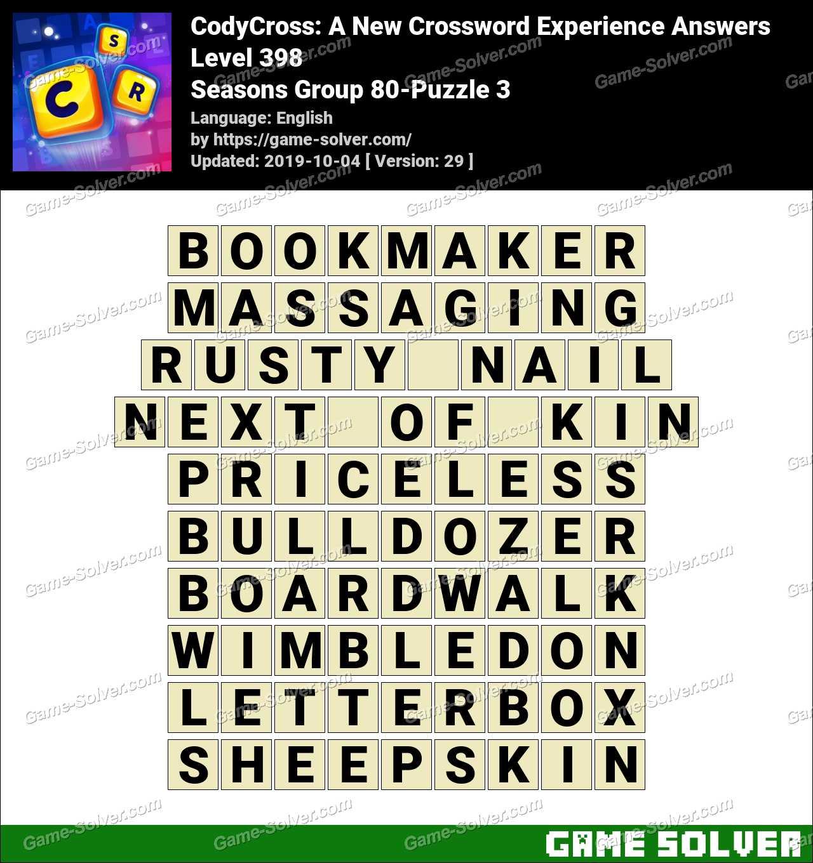 CodyCross Seasons Group 80-Puzzle 3 Answers